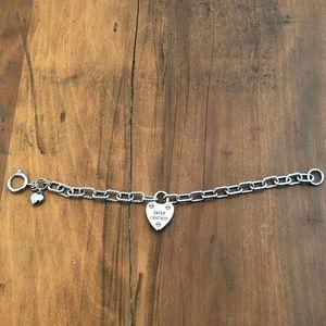 Juicy Couture Silver Heart Crystal Locket Bracelet